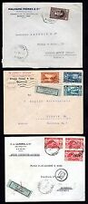 LEBANON 1930's THREE AIR MAIL COMMERCIAL COVERS TO GERMANY,AUSTRIA & FRANCE