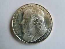MEDAILLE PAPE JEAN-PAUL II  MATER DEI CZESTOCHOWA 1983 diam 3,3 cm ARGENT SILVER