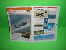GLOSTER METEOR AIRCRAFT FACTS CARD AIRPLANE BOOK 122