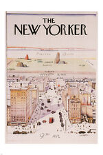 THE NEW YORKER cover poster famous illustration 1976 24X36 rare new  - VY1