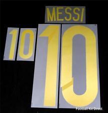 Argentina Messi 10 2014 World Cup Football Shirt Name/Number Set Kit Away