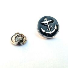 Black Anchor Sailing Ship Yacht Novelty Pin Badge, Tie Pin / Lapel Pin Badge