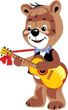 30 Custom Guitar Bear Personalized Address Labels