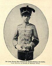 El joven duque Eduard de Sajonia-koburg y Gotha histórica memorabile 1900