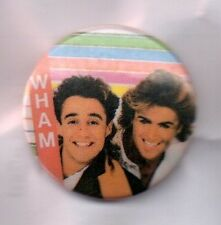WHAM! BUTTON BADGE GEORGE MICHAEL - ANDREW RIDGELEY 80s POP BAND - FANTASTIC