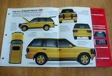 1998 RANGE ROVER OVERFINCH 570 HSE SUV UNIQUE IMP BROCHURE