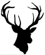 Deer Head 10x12 - Window sticker Car RV Truck Deer Hunting ATV Outdoor Vinyl