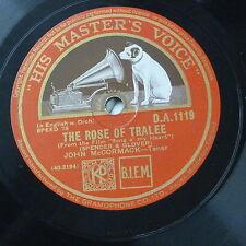 78rpm JOHN McCORMACK rose of tralee / ireland , mother ireland #2