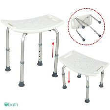 Adjustable Medical Bath Tub Shower Chair 6 Height Bench Stool Seat Without Back
