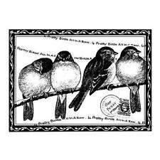 Crafty individuos cuatro bastante aves desmontado Red Rubber Stamp