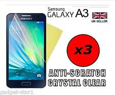 3x HQ CLEAR SCREEN PROTECTOR COVER LCD GUARD FILM FOR SAMSUNG GALAXY A3