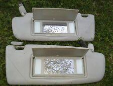 1996 - 2001 AUDI A4 L&R SUN VISOR LIGHT GRAY OEM