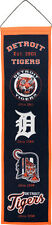 "Detroit Tigers 32"" Embroidered Genuine Wool Heritage Banner NWT MLB"