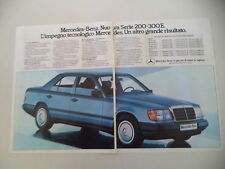 advertising Pubblicità 1985 MERCEDES BENZ SERIE 200/300 E