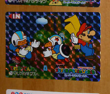 SUPER MARIO WORLD BANPRESTO CARDDASS CARD PRISM CARTE 16 NITENDO JAPAN 1993 **