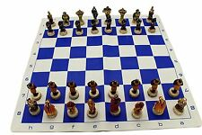 Resin Painted King Arthur Medieval Crusade Chess Pieces NO BOARD  32 pieces