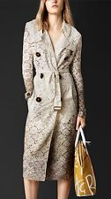 Burberry Prorsum Beige Dip Dye Dégradé Lace Trench Coat 44 UK 14