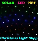 Solar Net Light MULTI 150 LED Flashing Outdoor Christmas Tree Garden Decoration