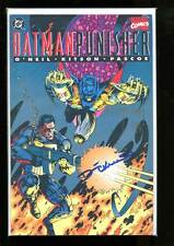 BATMAN PUNISHER LAKE OF FIRE NEAR MINT 1994 hand signed by DENNY O'NEIL & KITSON