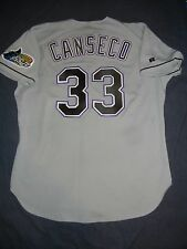 AUTHENTIC Russell Athletic JOSE CANSECO TAMPA BAY DEVIL RAYS Rd Jersey 48 XL A's