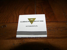 CARLTON HOUSE Hotel Pittsburgh Pennsylvania PA Rare 1950's Vintage Matchbook