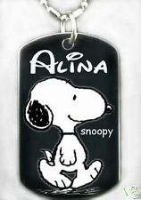 SNOOPY - Dog tag Necklace/Key chain + FREE ENGAVING