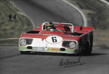 Vic Elford SIGNED 12x8 , Autodelta Alfa Romeo T33 , Brands Hatch 1000kms 1972