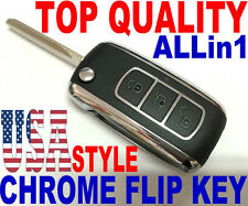 CHROME FLIP KEY REMOTE FOR 2002 CADILLAC ESCALADE KEYLESS ENTRY FOB KOBLEAR1XT
