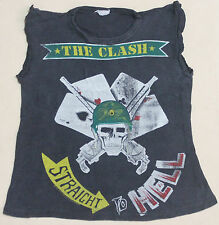 VINTAGE 1982 THE CLASH STRAIGHT TO HELL PUNK ROCK TOUR CONCERT PROMO T-SHIRT
