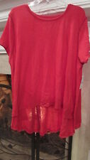 """Free People """"WE THE FREE"""" Rouge Oversized Blouse Size XS/Small Retail $78"""
