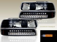 99-02 CHEVY SILVERADO 00-06 SUBURBAN TAHOE HEADLIGHTS + LED BUMPER SIGNAL LIGHTS