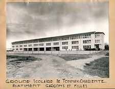 TONNAY-CHARENTE c. 1950 - Groupe Scolaire Charente Maritime