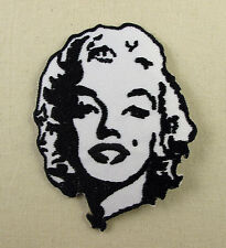 Marilyn Monroe Black & White Embroidered Iron On Patch  Retro Movie Star Pin Up