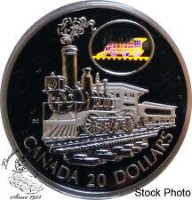 Canada 2001 $20 The Scotia Train Silver Hologram Coin