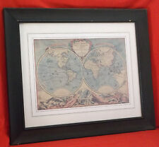 """Antique Map """"Mappe Monde"""" By Pieter Goos-Matted/Framed-26 3/4 X 22 1/4"""""""