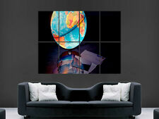 GLOBE OF THE WORLD LIT LETTERS  ART  IMAGE  LARGE WALL POSTER PICTURE