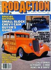 ROD ACTION DECEMBER 1987-SB CHEVY CAM GUIDE-33 FORD WOODIE-48 STYLEMASTER ROD