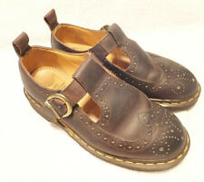 Dr Martens Brown Leather Wing Tip Mary Janes Women's Size US 7M UK5 Quite Good