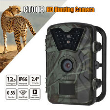 12MP Trail Wildlife Scouting Night Vision LED Infrared Hunting Camera Waterproof