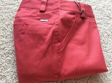 Lija Golf Shorts 4 Coral Salsa Pants Stretch New with Tags