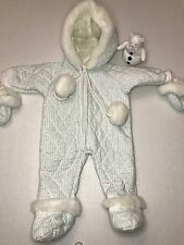Pleasant American Girl Bitty Baby Twin #58 Retired Snow Suit Mittens w Snowbear