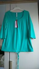 Women's size 14/16 (would fit 18, maybe 20) bright blue top, bnwt, please read