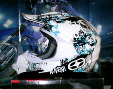 No Fear in modo ottimale 2 CROSS CASCO Phantom Blue NUOVO Enduro Quad Casco XL YAMAHA YZ-F YZ