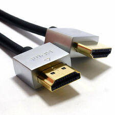 2m Ultra Slim Low Profile HDMI 1.4 High Speed Cable Gold for 3D TV [007002]