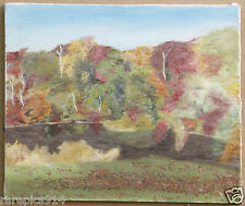 Heather Nielsen Autumn Scene  Original Oil On Canvas Signed Painting 81