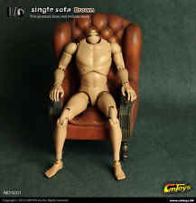 "1/6 CMToys Model PVC Single Sofa Chair Furniture F 12"" Action Figure S001 Brown"