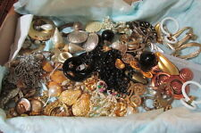 Estate Lot of (37) Pairs of Funky Retro Vintage 1960's Era Clip On Earrings