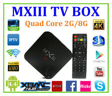 NEW Fully LOADED XBMC Quad Core MX3 MXIII Android Smart TV Box Player 4K 2GB/8G