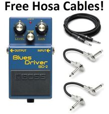 New Boss BD-2 Blues Driver Effect Pedal FREE Hosa Cables!