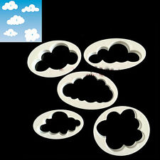 5x Cloud Cake Cutter Mold Fondant Pastry Cookie Sheep Mould Decor DIY Tool TO